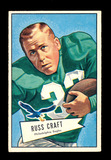 1952 Bowman Large Football Card #116 Russ Craft Philadelphia Eagles.  EX to