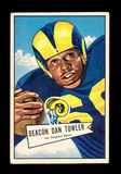 1952 Bowman Large Football Card #120 Dan Towler Los Angeles Rams.  EX to EX