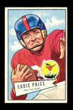 1952 Bowman Large Football Card #123 Eddie Price New York Giants.  EX to EX