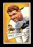 1952 Bowman Large Football Card #128 Hall of Famer Dante Lavelli Cleveland
