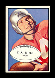 1953 Bowman Football Card #56 Hall of Famer Y.A. Tittle San Francisco 49ers