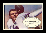 1953 Bowman Football Card #85 George Ratterman Cleveland Browns.  EX-MT to