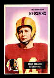 1955 Bowman Football Card #26 Eddie Lebaron Washington Redskins.  EX-MT to