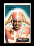 1955 Bowman ROOKIE Football Card #42 Rookie Hall of Famer John Johnson San