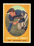 1958 Topps Football Card #120 Hall of Famer Raymond Berry Baltimore Colts.