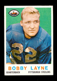1959 Topps Football Card #40 Hall of Famer Bobby Layne Pittsburgh Steelers.