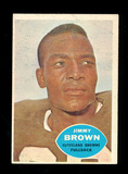 1960 Topps Football Card #23 Hall of Famer Jimmy Brown Cleveland Browns . E