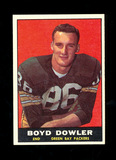1961 Topps ROOKIE Football Card #43 Rookie Boyd Dowler Green Bay Packers. E