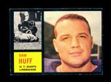1962 Topps Football Card #110 Hall of Famer Sam Huff New York Giants. EX to