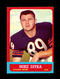 1963 Topps Football Card #62 Hall of Famer Mike Ditka Chicago Bears. EX-MT