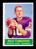 1964 Philadelphia Football Card #109 Hall of Famer Fran Tarkenton Minnesota