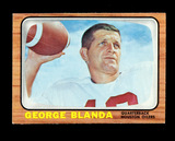 1966 Topps Football Card #48 Hall of Famer George Blanda Houston Oilers. EX