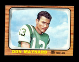 1966 Topps Football Card #95 Hall of Famer Don Maynard New York Jets. EX to