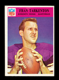 1966 Philadelphia Football Card #114 Hall of Famer Fran Tarkenton Minnesota
