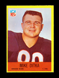 1967 Philadelphia Football Card #29 Hall of Famer Mike Ditka Chicago Bears.