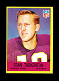 1967 Philadelphia Football Card #106 Hall of Famer Fran Tarkenton Minnesota