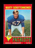 1971 Topps ROOKIE Football Card #3 Rookie Marty Schottenheimer New England