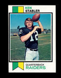1973 Topps ROOKIE Football Card #487 Rookie Hall of Famer Ken Stabler Oakla