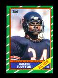 1986 Topps Football Card #11 Hall of Famer Walter Payton Chicago Bears. NM