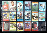 (17) Lower Grade/Damaged Football Cards. Mostly Light Creases, Pinholes, an