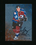1998 In The Game Inc Autoraphed Hockey Card #187 Milan Hejduk. Near Mint to