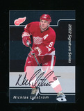 2002 in the Game Inc Signature Series Autographed Hockey Card #156 Nicklas