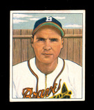 1950 Bowman Baseball Card #110 Tommy Holmes Boston Braves. EX to EX-MT+ Con