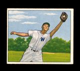 1950 Bowman Baseball Card #143 Eddie Stewart Washington Senators. EX to EX-