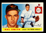 1955 Topps Baseball Card #8 Hal Smith Baltimore Orioles . EX-MT to NM Condi