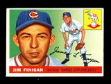 1955 Topps Baseball Card #14 Jim Finigan Kansas City Athletics. EX-MT to NM