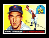1955 Topps Baseball Card #34 Wayne Terwilliger Washington Nationals. EX-MT