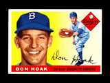 1955 Topps Baseball Card #40 Don Hoak Brooklyn Dodgers. EX-MT to NM Conditi