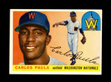 1955 Topps Baseball Card #97 Carlos Paula Washington Nationals. EX-MT to NM