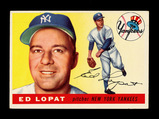 1955 Topps Baseball Card #109 Ed Lopat New York Yankees. EX-MT to NM Condit