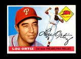 1955 Topps Baseball Card #114 Lou Ortiz Philadelphia Phillies.  EX-MT to NM