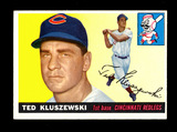 1955 Topps Baseball Card #120 Ted Kluszewski Cincinnati Redlegs.  EX-MT to