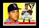 1955 Topps Baseball Card #122 Carl Sawatski Chicago White Sox. EX-MT to NM