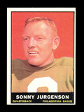 1961 Topps Football Card #95 Hall of Famer Sonny Jurgenson Philadelphia Eag