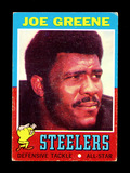 1971 Topps ROOKIE Football Card #245 Rookie Hall of Famer Joe Greene Pittbu