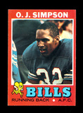 1971 Topps Football Card #260 Hall of Famer O.J. Simpson Buffalo Bills (2nd