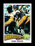 1975 Topps ROOKIE Football Card #367 Rookie Hall of Famer Dan Fouts Gan Die