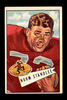 1952 Bowman Large Football Card #42 Norman Stanlee San Francisco 49ers.  EX