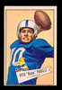 "1952 Bowman Large Football Card #44 Vito ""Babe"" Parilli Green Bay Packers."
