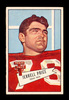 1952 Bowman Large Football Card #49 Jerrell Price Chicago Cardinals.  EX-MT