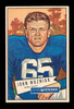 1952 Bowman Large Football Card #97 John Wozniak Dallas Texans.  EX to EX-M