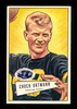 1952 Bowman Large Football Card #132 Chuck Ortmann Pittsburgh Steelers.  EX