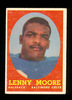 1958 Topps Football Card #10 Hall of Famer Lenny Moore Baltimore Colts. EX
