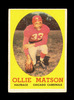 1958 Topps Football Card #127 Hall of Famer Ollie Matson Chicago Cardinals.