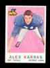 1959 Topps ROOKIE Football Card #103 Alex Karras Detroit Lions. EX to EX-MT