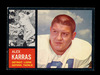 1962 Topps Football Card #58 Alex Karras Detroit Lions. EX to EX-MT Conditi